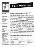 Fibro-Montérégie, an 1 no 1, sept. 2004