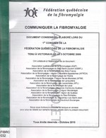 Communiquer la fibromyalgie : document consensuel